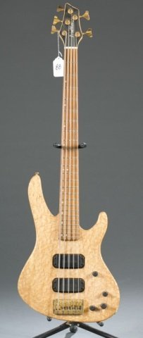 A Washburn USA Bantum bass, 5 string. Serial #: XB