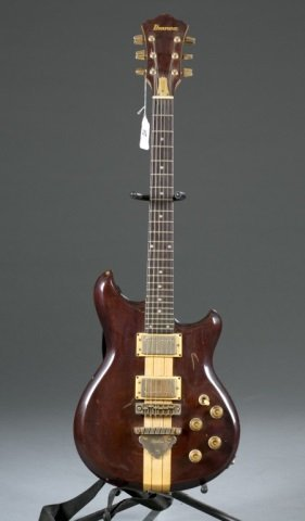 An Ibanez musician electric guitar, Serial #: A826