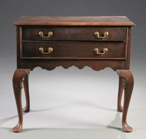 22: Chippendale style stained oak dressing table