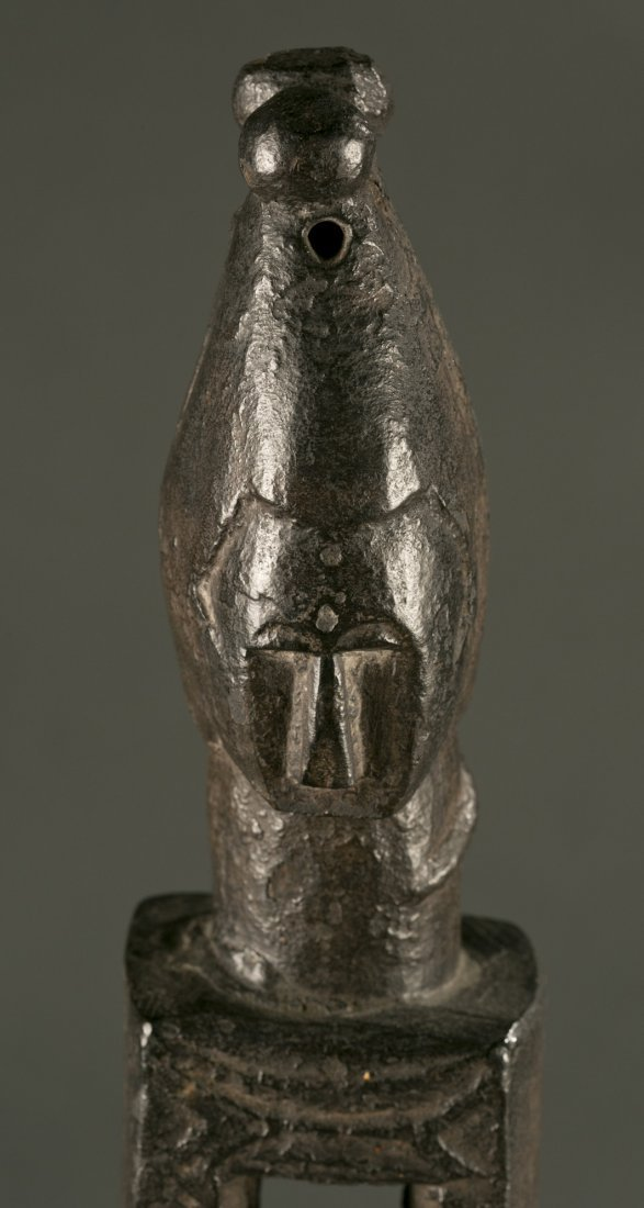West African Attie standing wood figure, 20th c. - 2