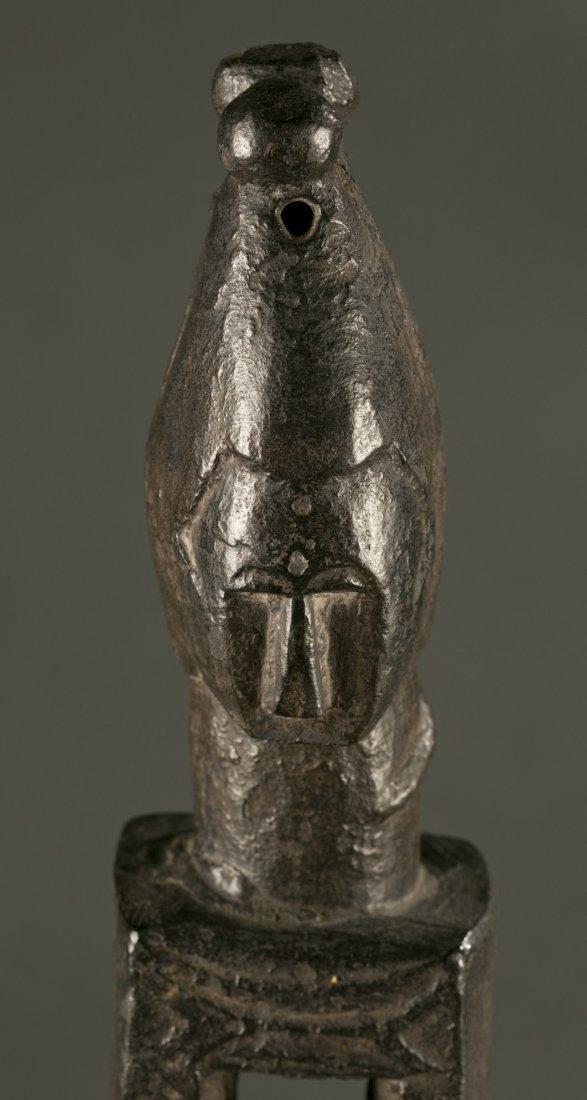 West African Attie standing wood figure, 20th c. - 2