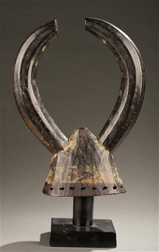 West African horned head crest, 20th century.