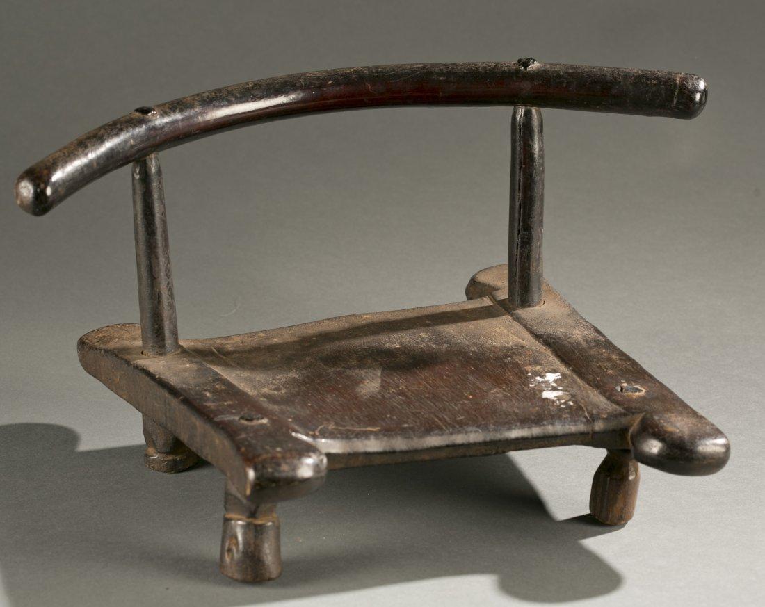 Liberian wooden chair, 20th c.