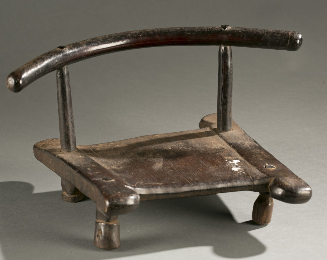 Liberian wooden chair, 20th c.