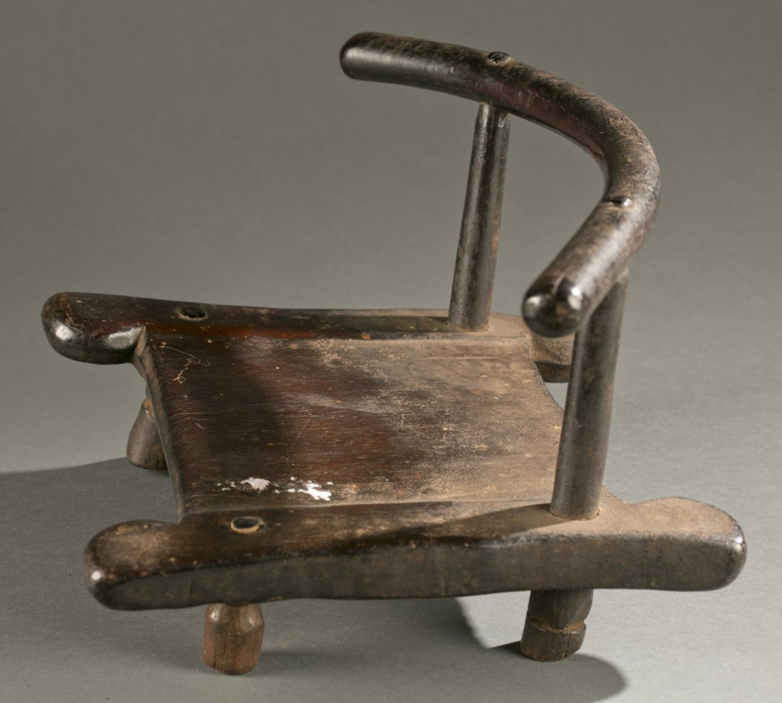 Liberian wooden chair, 20th c. - 2