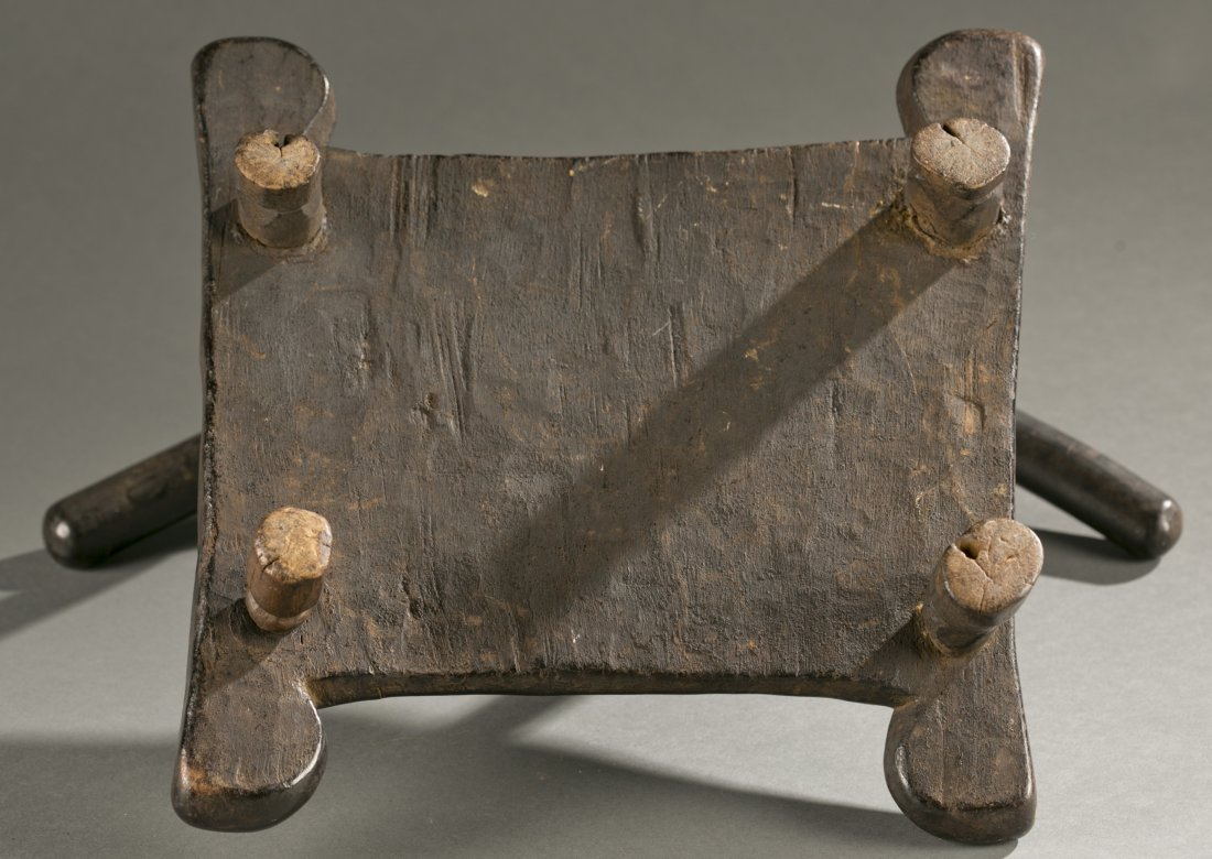 Liberian wooden chair, 20th c. - 4