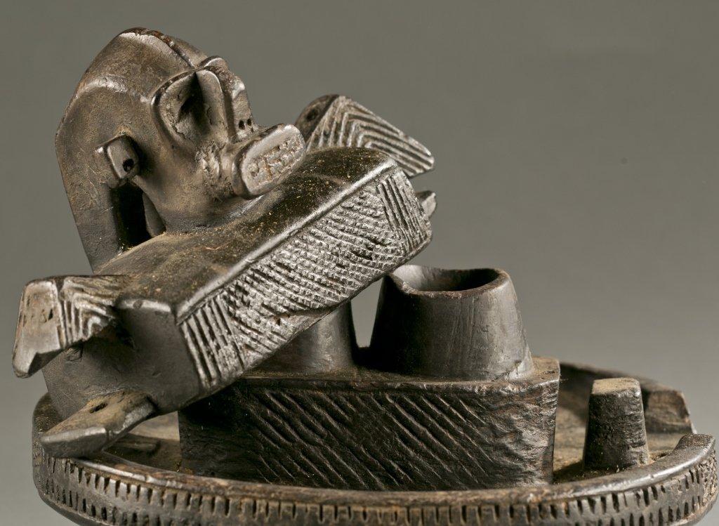 Igbo lidded divination bowl, 20th cen. - 3