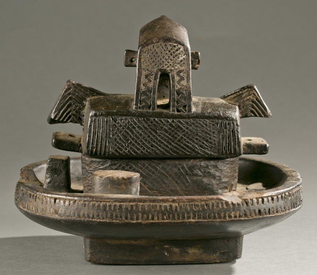 Igbo lidded divination bowl, 20th cen. - 6
