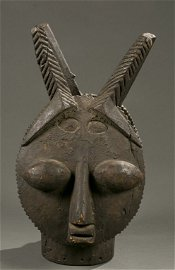 Ijebu janus horned dance crest, 20th c.