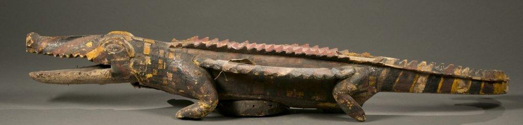 Ijo crocodile water spirit headdress. - 5