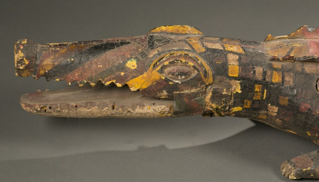 Ijo crocodile water spirit headdress. - 6