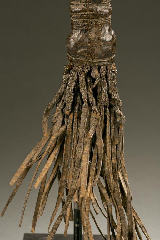 Yoruba flywhisk with equestrian figure. - 3