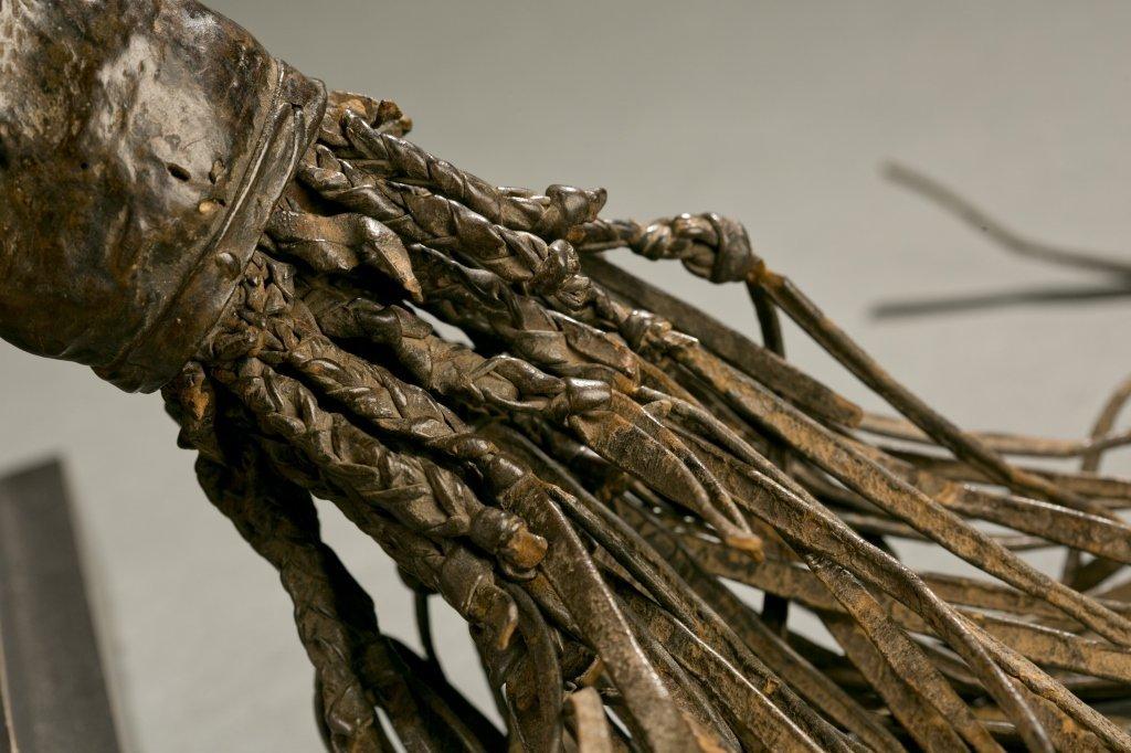 Yoruba flywhisk with equestrian figure. - 5