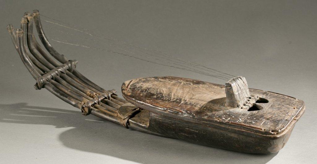 African harp, 20th century.