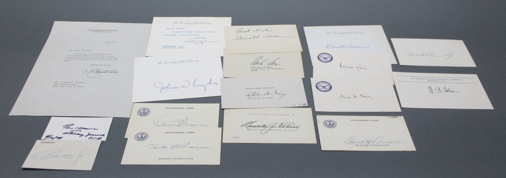 17 items sgd by Truman, Eisenhower cabinet members