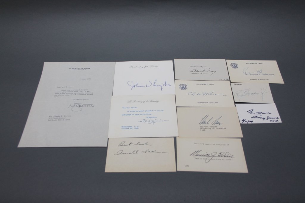 17 items sgd by Truman, Eisenhower cabinet members - 3