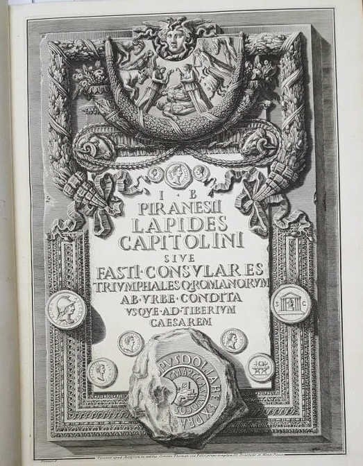 Piranesi: 1 vol (3 works) incl: LAPIDES CAPITOLINI