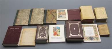 14 Miniature Books: Dante, illuminated manuscripts
