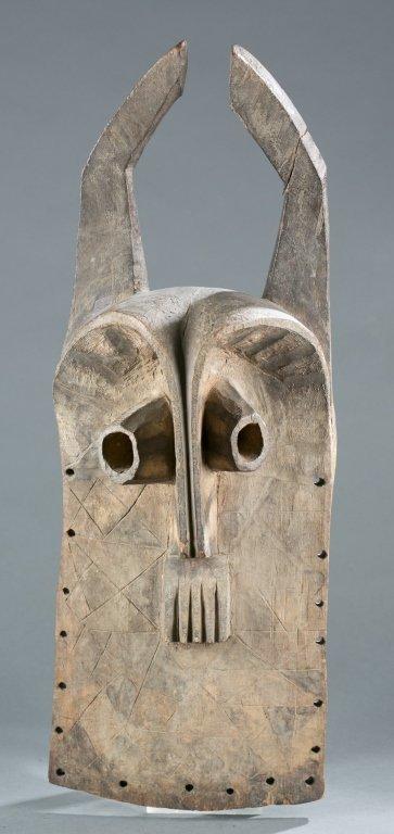 Nigerian horned mask. 20th century.