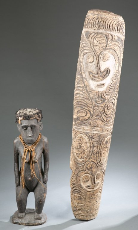 Board & figure from South Pacific. 20th century.