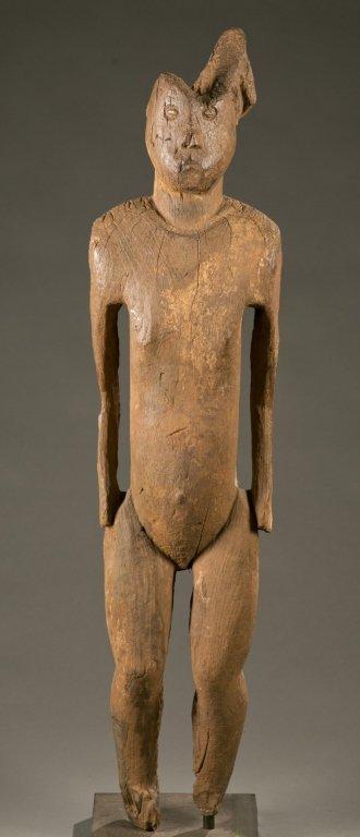 Bongo standing commemorative figure.