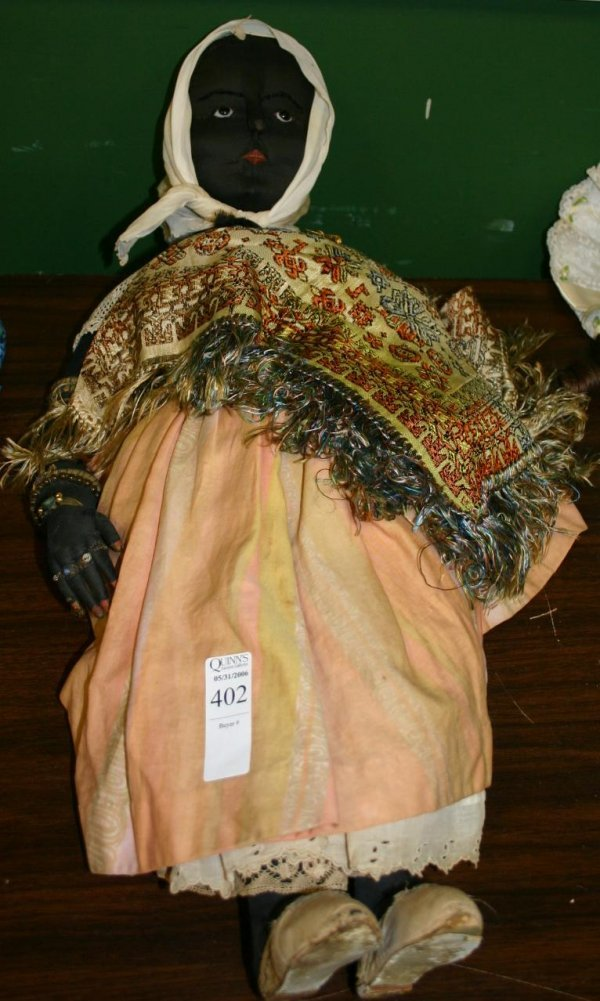 1402: Early 1920s African American handmade doll wi