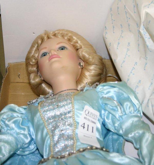 1411: Danbury Mint Cinderella doll, in original box.