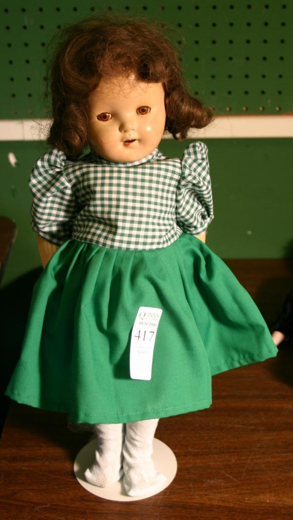 "1417: Effanbee ""Mary Ann"" doll composition, with da"
