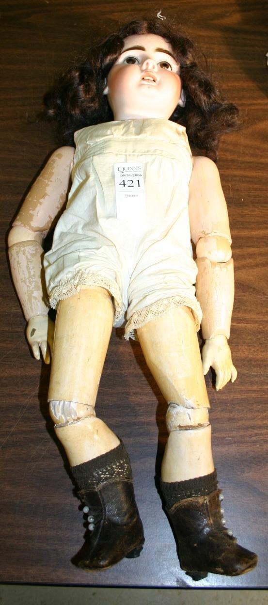 1421: Beiten type child doll circa 1900 marked #204