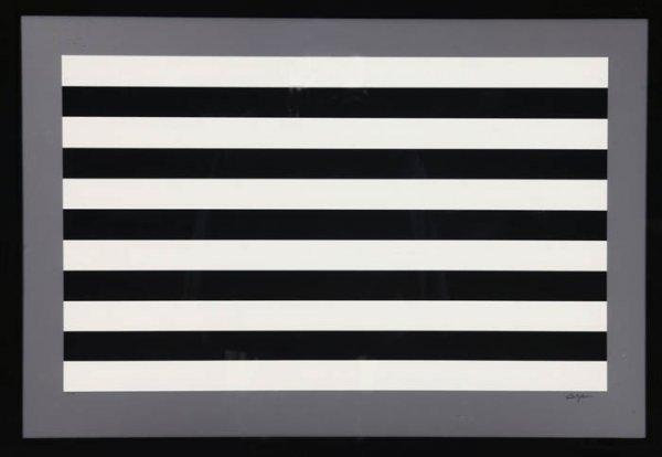 1: Agam, Yaacov (Am. b.1928). Untitled black & w