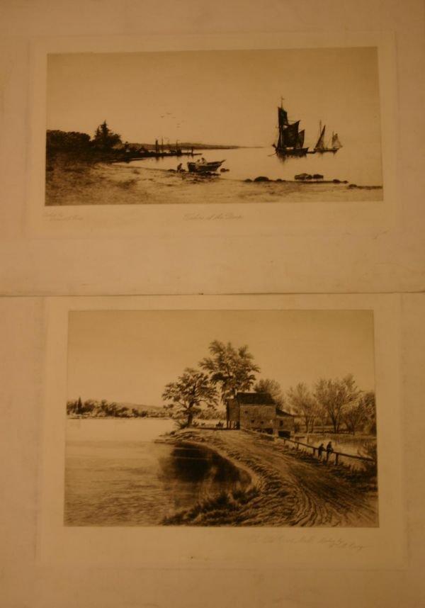 2: [American Printmakers/19th Century]. 8 etchin