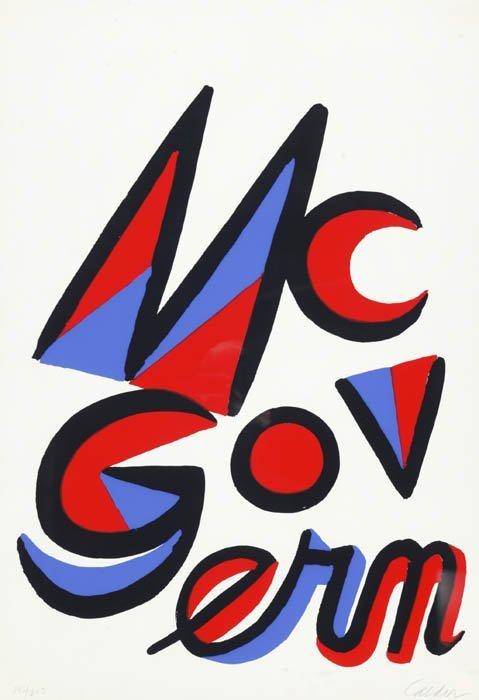 19: Calder, Alexander (Am. 1898-96). Vote McGover