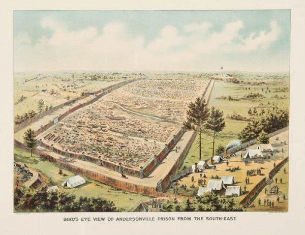 21: [Civil War]. Birds-Eye View Of Andersonville