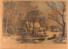 27 Currier  Ives Winter In The Country  The O