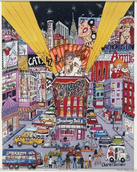 "33: Fazzino, Charles (Am. b.1955). ""Broadway Night"""