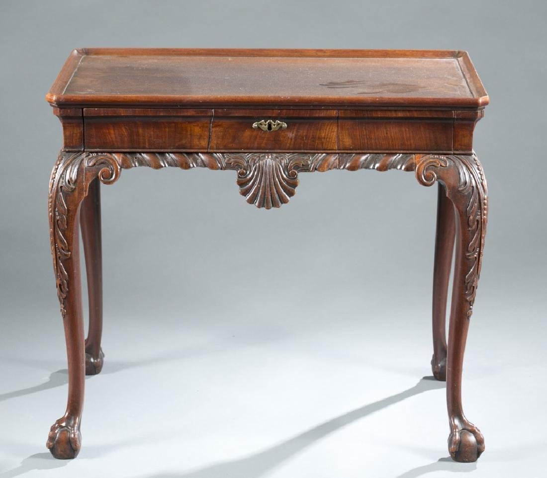 Chippendale period mahogany tea table, 18th c.