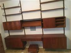 Mid-Century Modern wall unit desk / bookcase