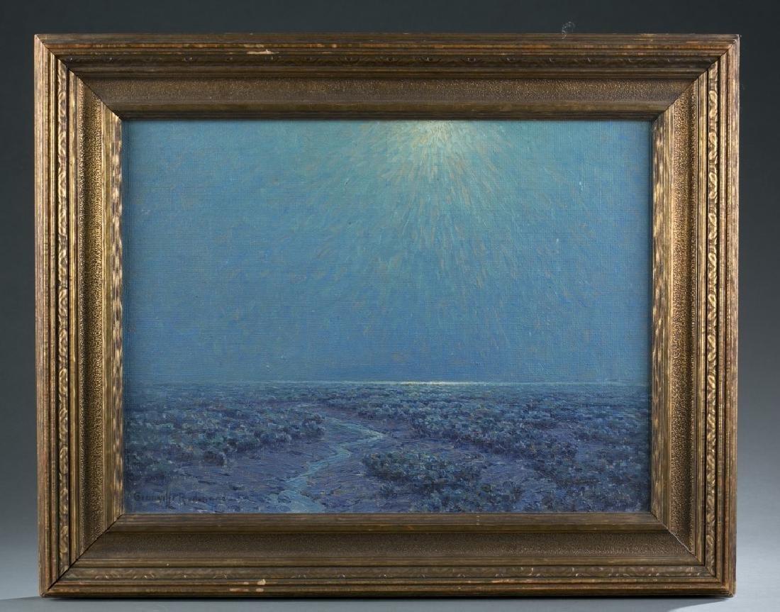 Granville Redmond, Moonlight on the Marsh, O/C.