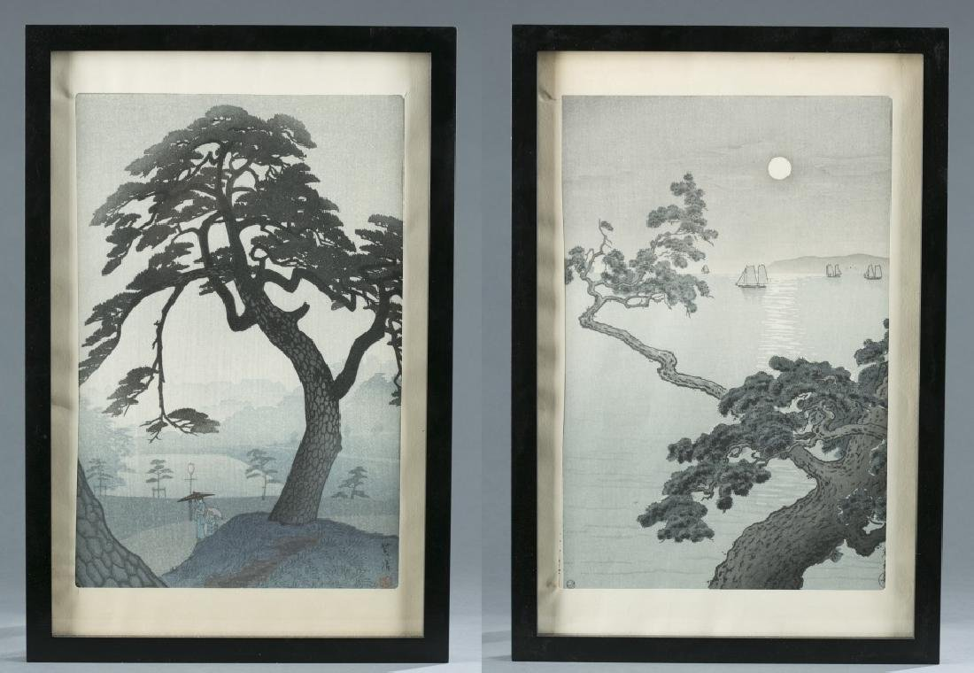 2 Japanese woodblock prints, Shiro & Koitsu.
