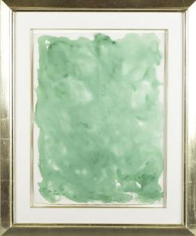 Beauford Delaney. Green watercolor. 1963.