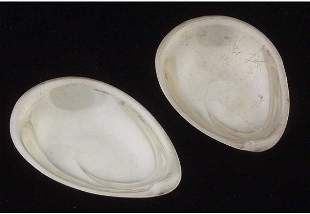 Two Reed & Barton sterling nut dishes