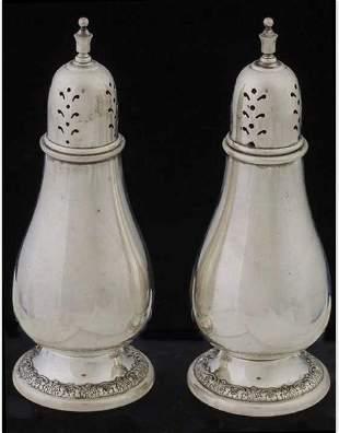 Pair of sterling salt and pepper shaker