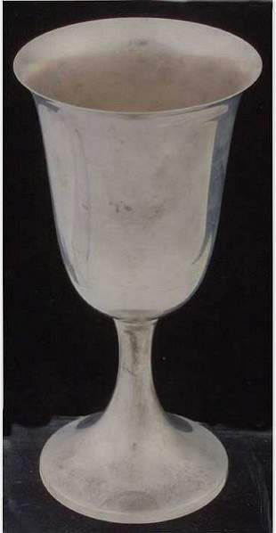 Group of six sterling silver goblets