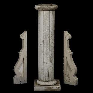 Painted Architectural Elements and Pedestal