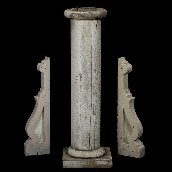 4: Painted Architectural Elements and Pedestal