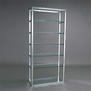 Chome and Glass Shelf Unit
