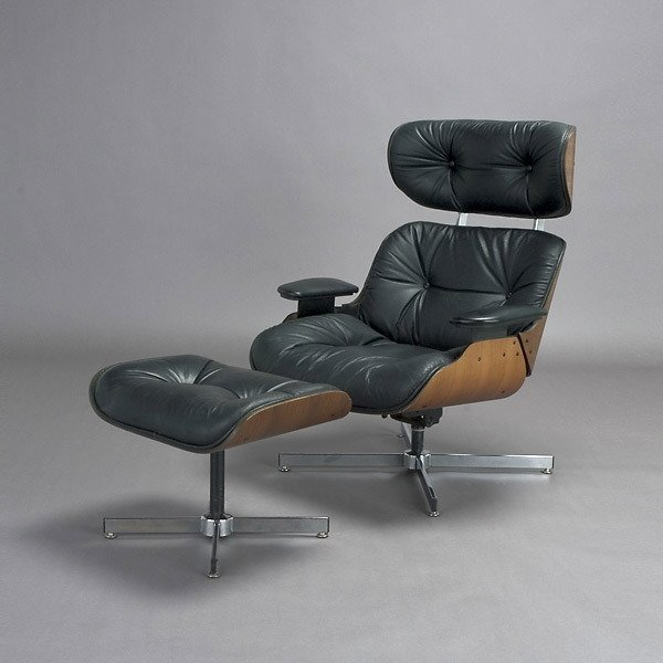 17: Eames Style Chair and Ottoman