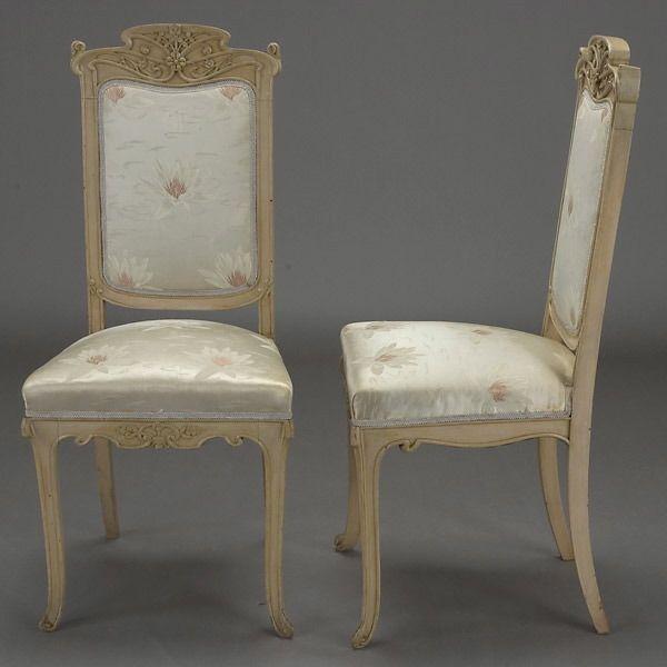 Four Art Nouveau Side Chairs