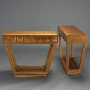 Pair of Contemporary Console Tables