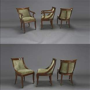 Six Art Nouveau Style Chairs